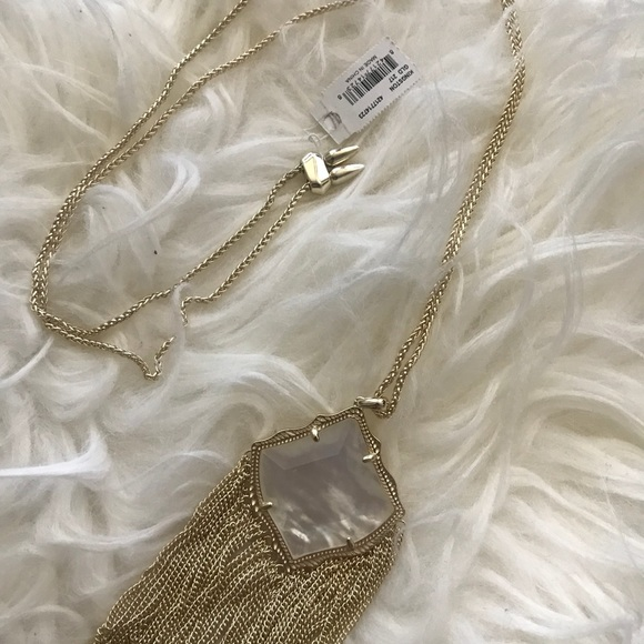 NWT Rare Ivory Pearl Kendra Scott Necklace NWT